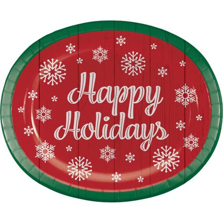 The Holiday Aisle Anders Oval Paper Dinner Plate (Set of 24)