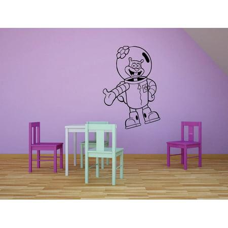 Sandy Cheeks Spongebob Squarepants Cartoon Kids Children School Classroom Daycare Pre School Custom Wall Decal Vinyl Sticker 12 Inches X 18 Inches