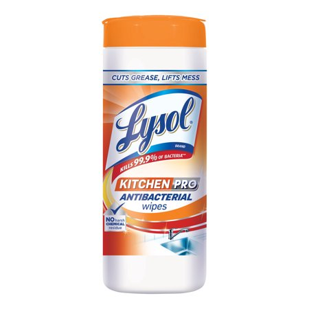 - (3 Pack) Lysol Kitchen Pro Antibacterial Disinfecting Wipes, 30ct, No Harsh Chemicals