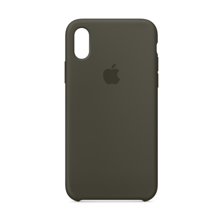 new product 4ee3e 75d15 Apple Silicone Case for iPhone X - Dark Olive