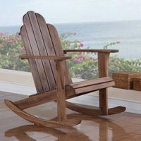 Linon Adirondack Rocker, Teak Color, High Back 37 inches
