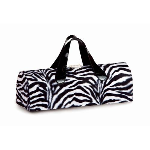 Fashion Avenue Flirtatious Single Wine Bottle Box Clutch - Zebra Print