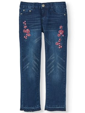 Floral Embroidered Skinny Jean (Little Girls & Big Girls)