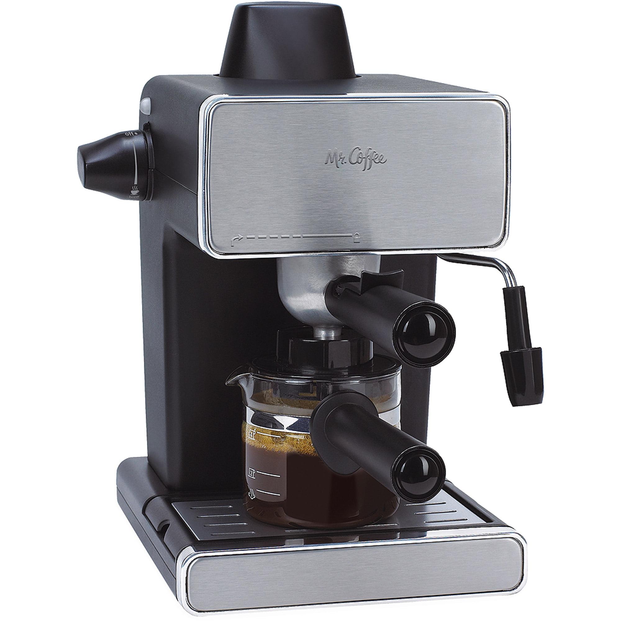 Mr. Coffee Espresso Maker, Stainless Steel and Black, BVMC-ECM260