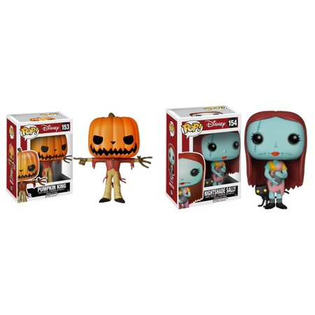 Jack the Pumpkin King and Sally with Nightshade Pop! Vinyl Figures Set of 2, We have some new additions to our The Nightmare Before Christmas line! By Nightmare Before Christmas