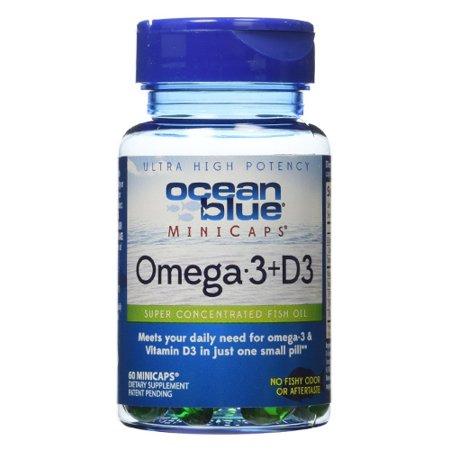 Ocean Blue OTC Vita D oméga-3 plus Mini capsules Softgel, 60 ch
