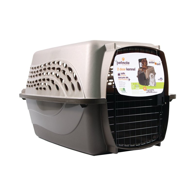 """Petmate Two Door Top Load 24"""" Pet Kennel, Up To 15 Lbs"""