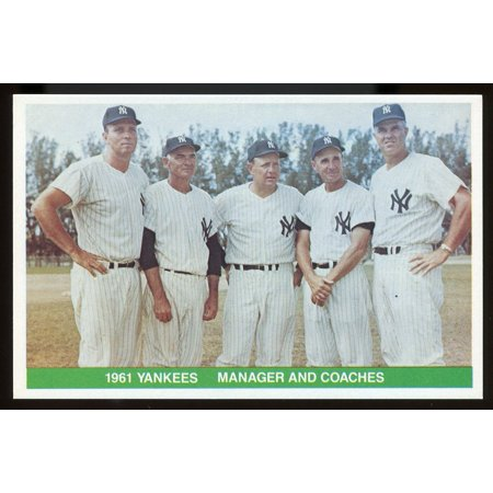 1984 TCMA Greats #29 1961 Yankees Coaches Managers Collectible Player