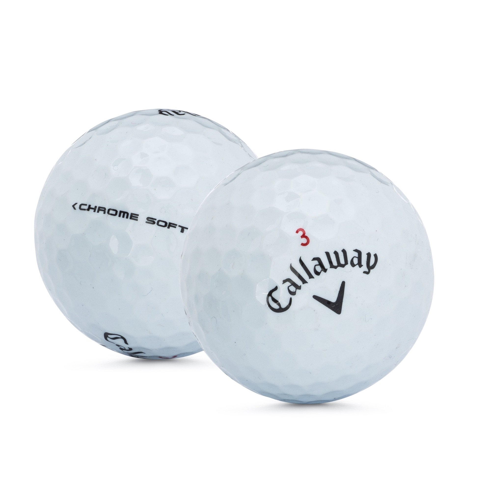 "Image of 15 pack Callaway Chromesoft Refinished Golf Balls with 2 3/4"" Wood Tees"
