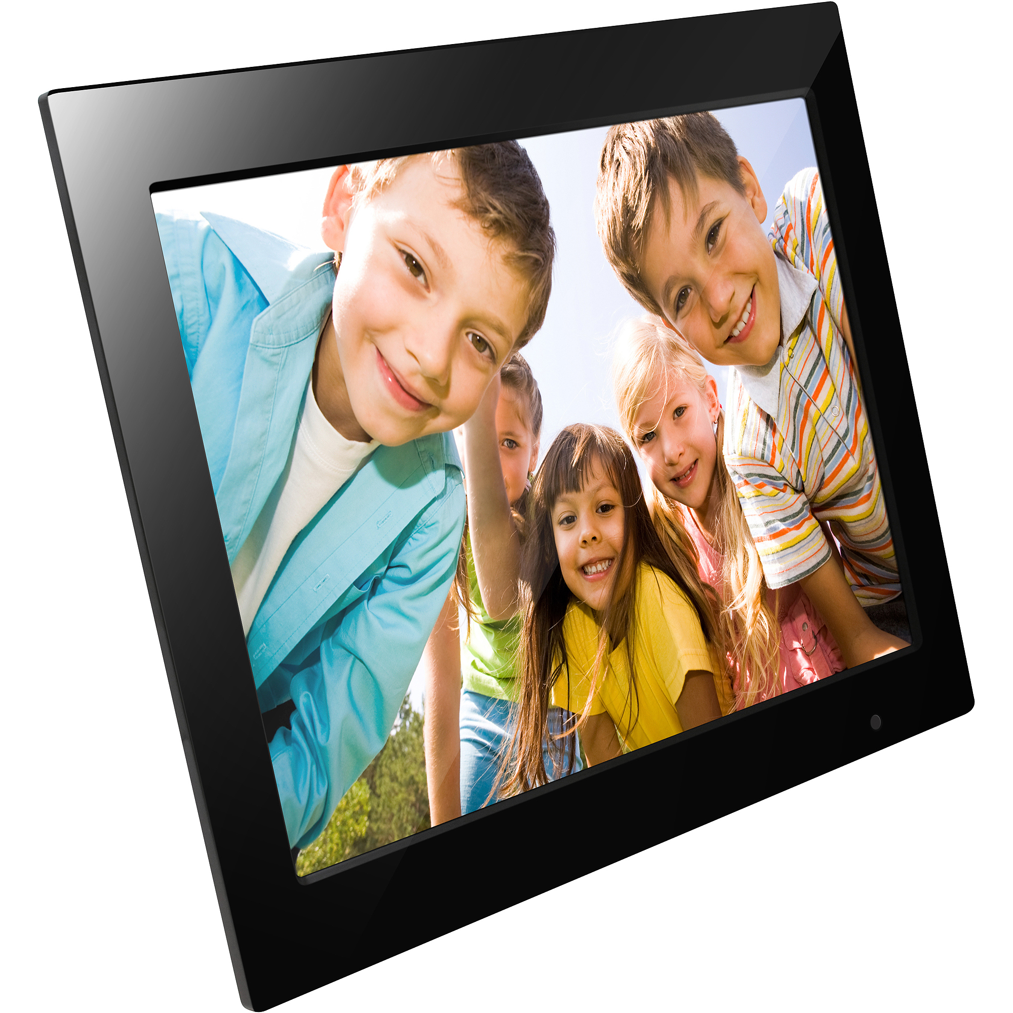 "FileMate Joy Series 15"" Digital Photo Frame, Black, Refurbished"