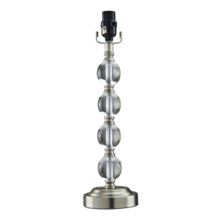 Better Homes Gardens 18 Stacked Glass Ball Lamp Base Brushed