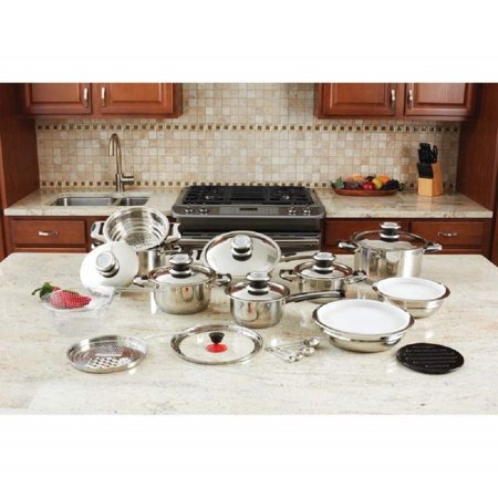 Maxam 28pc 12-element High-quality Heavy-gauge Stainless Steel Cookware