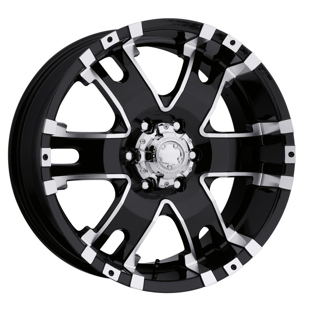 Ultra Baron 17 Black Wheel / Rim 6x5.5 with a -12mm Offset and a 106 Hub Bore. Partnumber 201-7983B