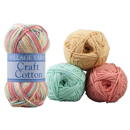 Craft Cotton Value Packs, Set of 4 Balls Yarn - Yarn Crafts
