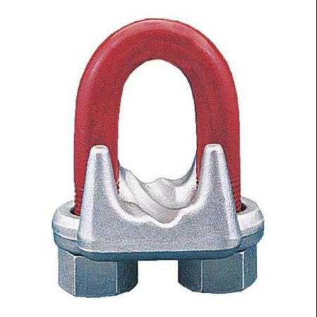 CROSBY 1010319 Wire Rope Clip, U-Bolt, 1-1/2in Crosby Wire Rope Clips