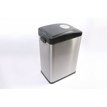Better Homes and Gardens 30L Stainless Steel Rectangle Recycling Trash Can