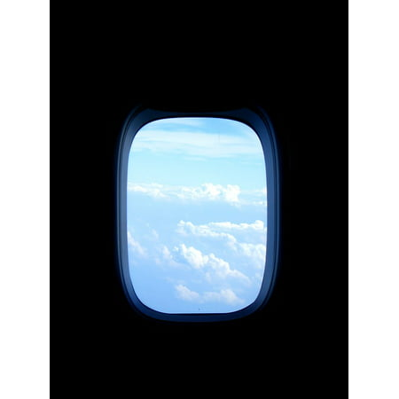 LAMINATED POSTER Sky Aircraft Fly Flyer Clouds Window View Blue Poster Print 24 x 36