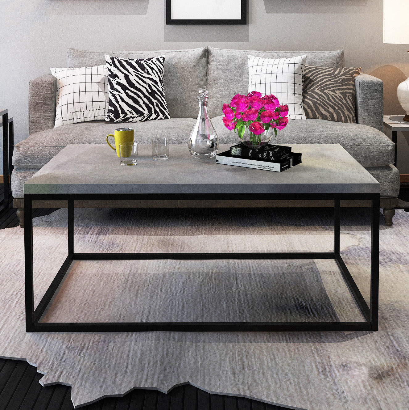 Walmart Com Furniture: Gymax Modern Rectangular Cocktail Coffee Table Metal Frame