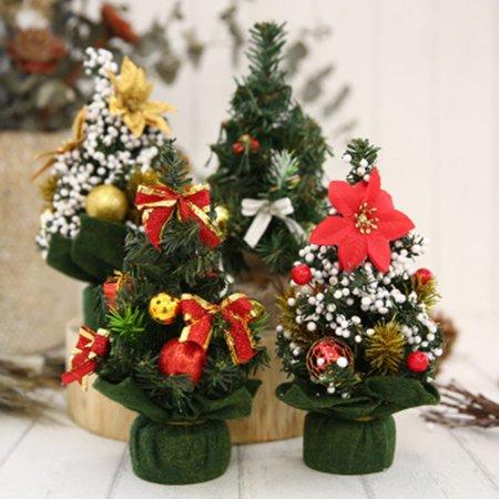 Mini Christmas Trees Decorations Desktop Home Hotel Festival Window
