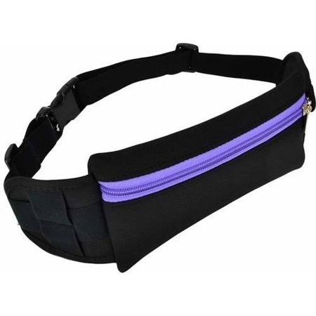Neoprene Outdoor Fitness Workout Running Adjustable Waist/Hip Travel Fanny Pack Pouch Belt for Adults