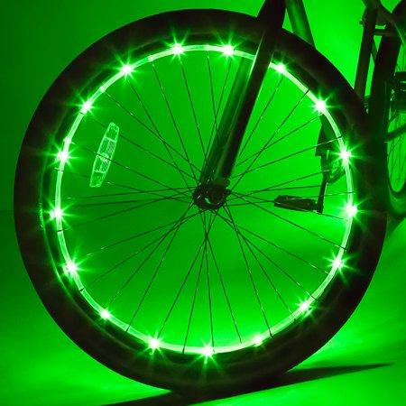 Wheel Brightz LED Bicycle Wheel Accessory Light, Green, for 1 Wheel