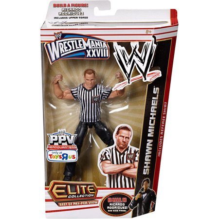 Shawn Michaels Action Figure Referee Shirt Elite Best of Pay Per