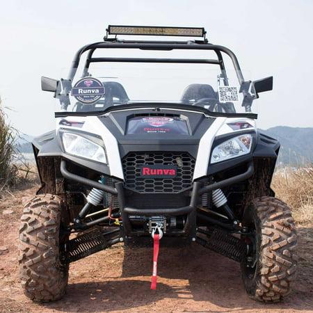 Runva 3500 Lbs Electric 12V ATV UTV Power Tow Winch with Remote Control (Remote Control Trailer Winches)