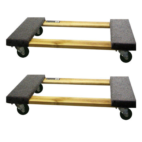Buffalo Tools 3.5'' x 18.5'' x 30'' Furniture Dolly (Set of 2)