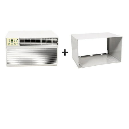 Koldfront WTC12001WSLV White 12000 BTU 220V Through the Wall Air Conditioner with 10600 BTU Heater with Remote And Sleeve