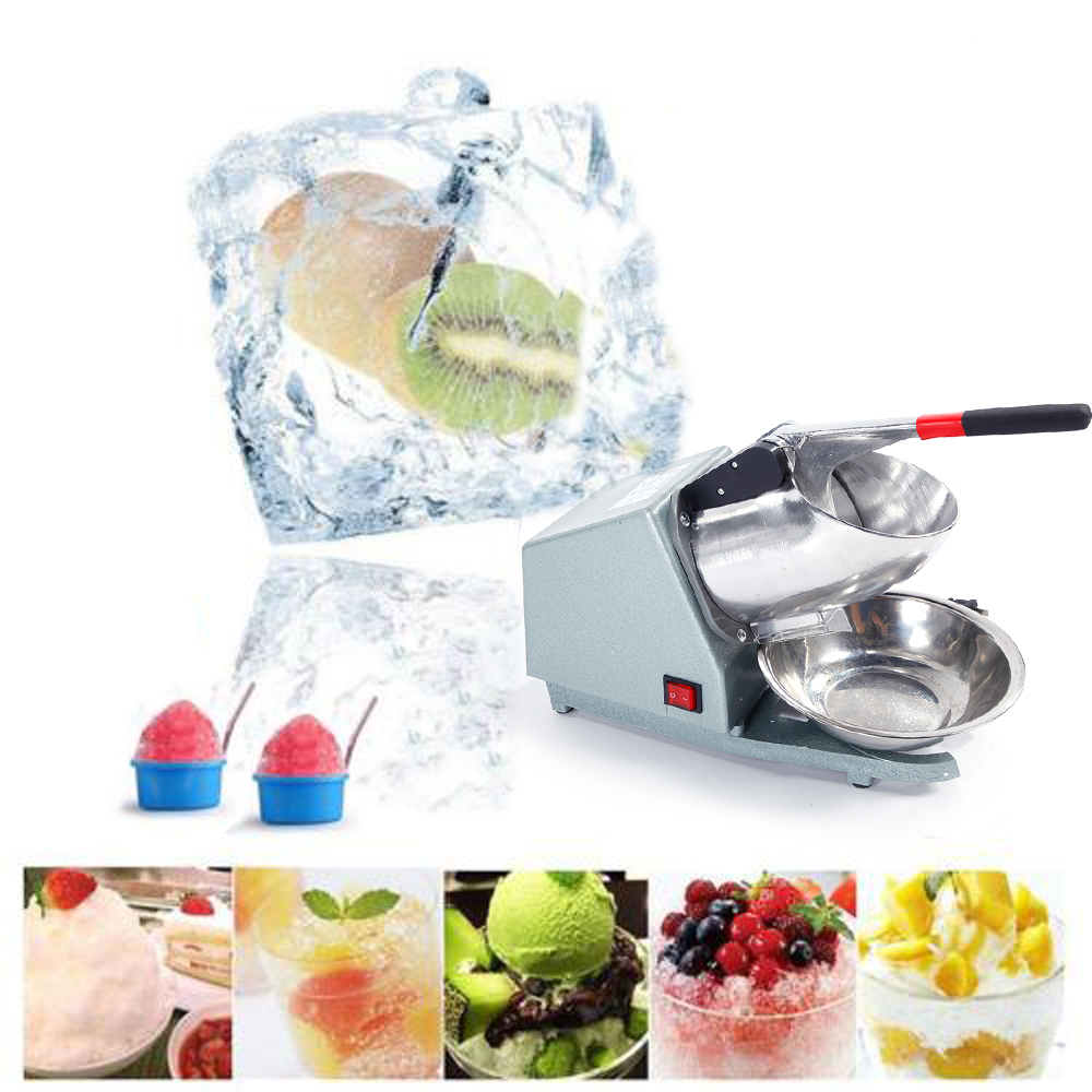 Ktaxon 200W Electric Ice Crusher Shaver Machine Snow Cone Maker Shaved Ice 143 lbs