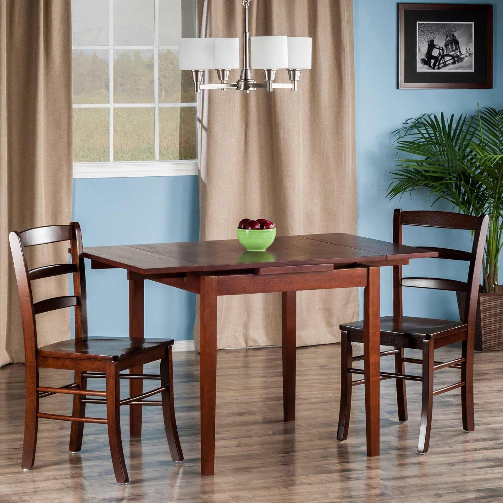 Pulman 3-Pc Set Extension Table 2 Ladder Back Chairs