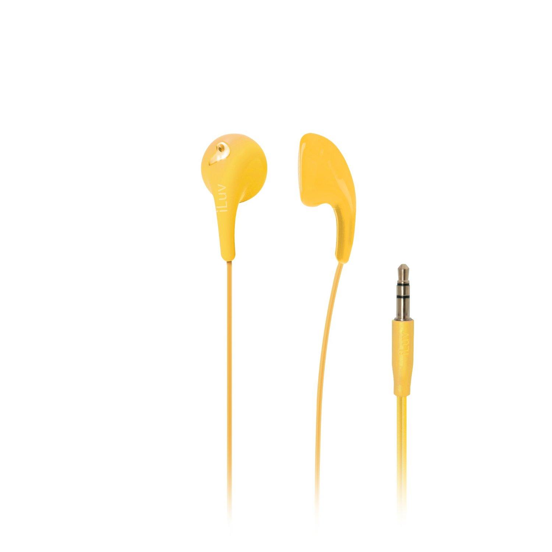 iLuv Bubble Gum II Earphone, Flexible, Jelly-Type Stereo Earphones (Yellow)