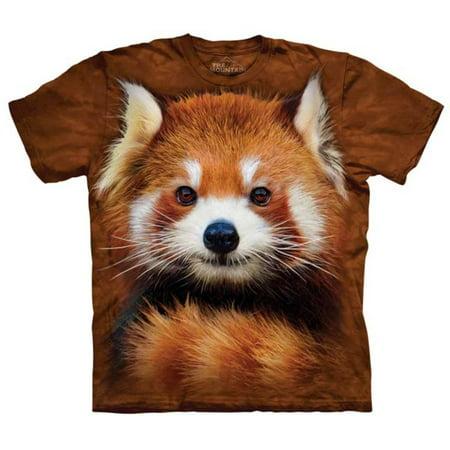 Mushroom Brown Apparel - David Penfound- Red Panda Portrait Apparel T-Shirt - Brown
