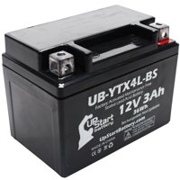 UpStart Battery Replacement 1994 Suzuki DR350S 350CC Factory Activated, Maintenance Free, Motorcycle Battery - 12V, 3Ah, UB-YTX4L-BS
