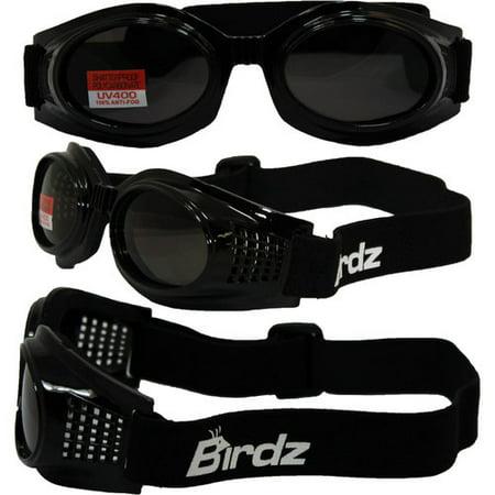 - Birdz Eyewear Kite Motorcycle Goggles (Black Frame/Smoke Lens)