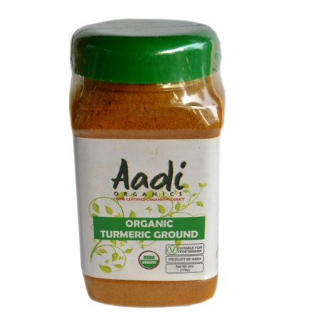 Wood Betony Herb Powder (Aadi Organics - USDA Certified Organic Indian Turmeric Powder - 6oz / 170g per Wide Mouthed Bottle - Cooking, Kitchen Use, Flavoring Herbs and Spices - Stays)