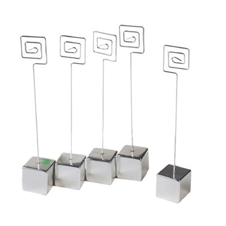 Wire Card Holder (Victoria Lynn Square Wire Swirl Place Card Holder with Base Set of 5)