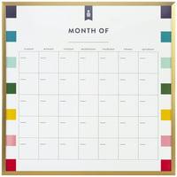 "Emily Ley for Quartet Magnetic Dry-Erase Calendar Board, 14"" x 14"" (51334WM)"