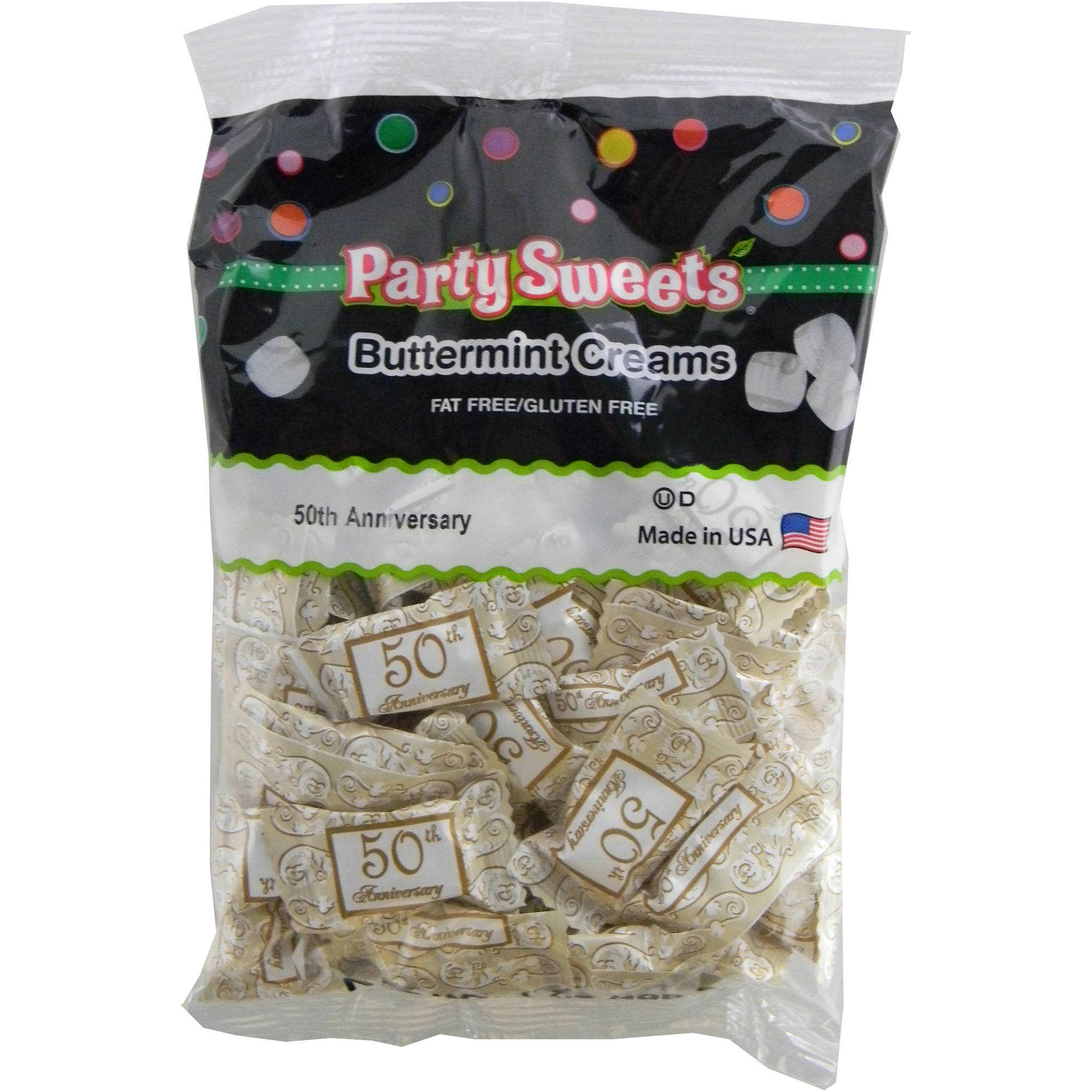 Party Sweets 50th Anniversary Buttermint Creams Candy, 7 oz