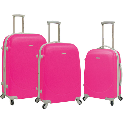 Travelers Polo & Racquet Club 3 pc. Hardside Spinner Luggage Set.