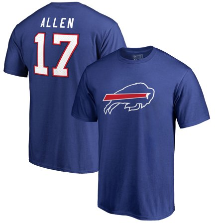 Nfl Icons - Josh Allen Buffalo Bills NFL Pro Line by Fanatics Branded Player Icon Name & Number T-Shirt - Royal