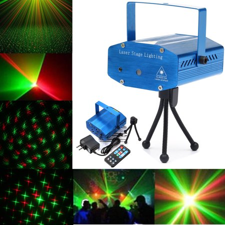 4colors Mini Auto Music Voice Control Rng Dj Disco Party Led Laser Stage Light Lamp Projector Dj Equipment Remote Control Wedding Party Supplies (Mini Stage Laser Lighting)