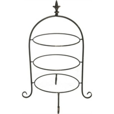 3 Tier Metal Dinner Plate Rack Black