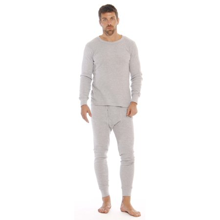 At the Buzzer - At The Buzzer Thermal Underwear Set for Men (Grey ... b54befeac