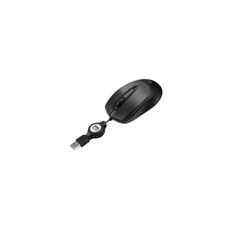Adesso Imouses5 Mini Optical Scroll Mouse With Retractable Usb Cable Pull Cab
