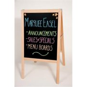Crestline 313 42 x 24 in. Marquee Wood Easel - Natural Hardwood