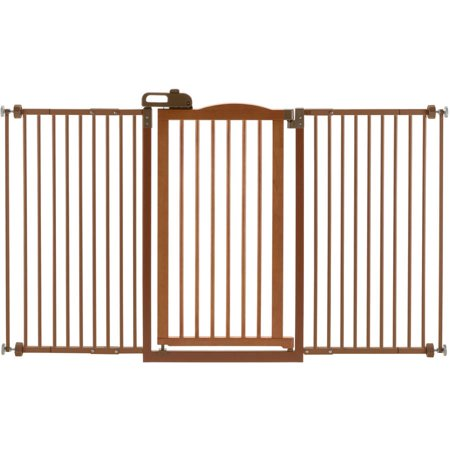 Richell One Touch Tall And Wide Pressure Mounted Pet Gate