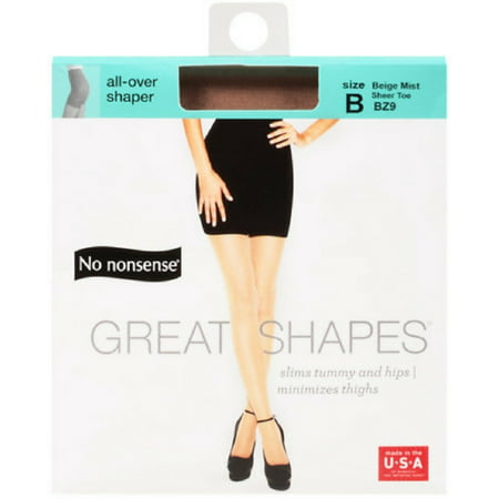 3 Pack - No Nonsense Great Shapes Body Shaping Pantyhose Size B, Beige Mist 1