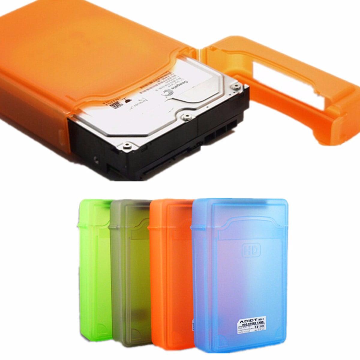 3.5 inch IDE SATA Hard Plastic Disk Drive HDD Protective Storage Cases Box New