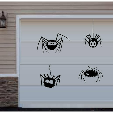 Silly Sounds Wall - HALLOWEEN DECOR~ Silly Spiders Qty 4 : Halloween Wall or Window Decal  THESE ARE NOT WINDOW CLINGS